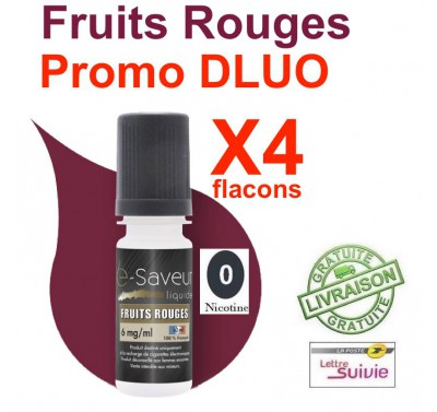 e liquide - LOT de 4 - Fruits Rouges - DLUO DEPASSEE
