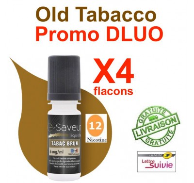 e liquide - LOT de 4 - Old Tabacco - DLUO DEPASSEE