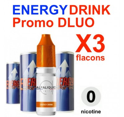 e liquide ALFALIQUID - LOT de 3 - Energy Drink- DLUO DEPASSEE