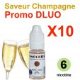 e liquide Smookies - LOT de 10 - Champagne - DLUO DEPASSEE