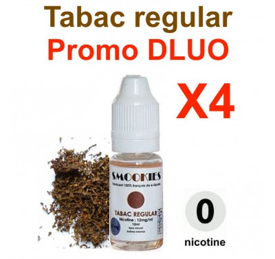 e liquide SMOOKIES - LOT de 4 - TABAC REGULAR - DLUO DEPASSEE