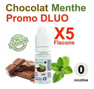 e liquide SMOOKIES - LOT de 5 - Chocolat Menthe - DLUO DEPASSEE