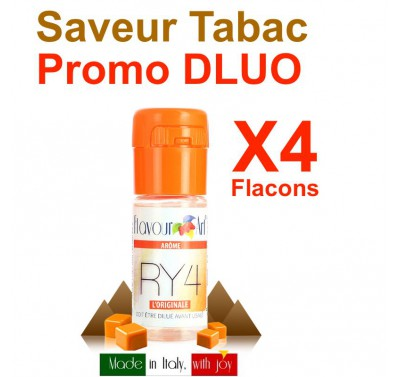 e liquide Flavour Art - LOT de 4 - Tabac RY4 - DLUO DEPASSEE