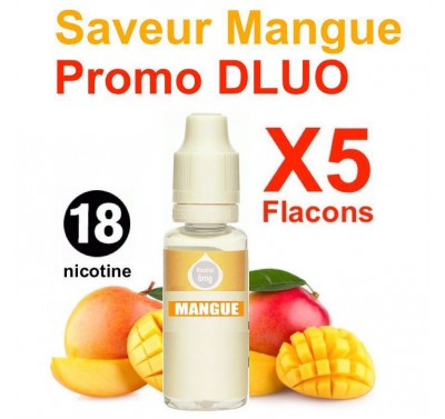 e liquide clop shop - LOT de 5 - Mangue - DLUO DEPASSEE