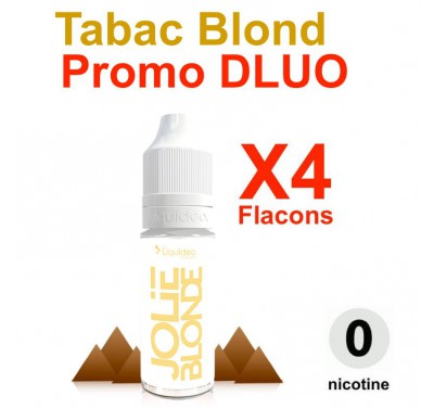 e liquide LIQUIDEO - LOT de 4 - Tabac Blond - DLUO DEPASSEE