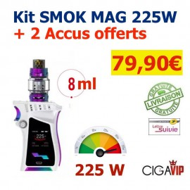 Authentique KIT SMOK MAG 225W + 2 Accus Offerts