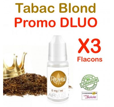 e liquide Airmust - LOT de 3 - TABAC King Leaves - DLUO DEPASSEE