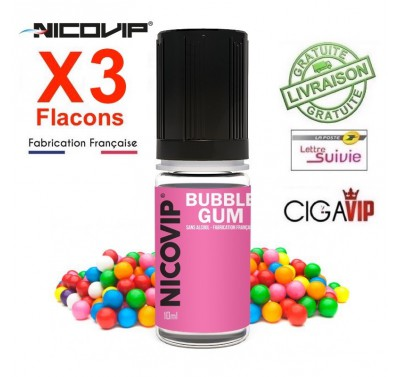 e liquide - LOT de 3 flacons - BUBBLE GUM