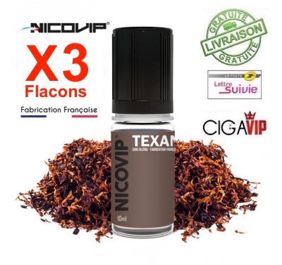 e liquide - LOT de 3 - TABAC TEXAN