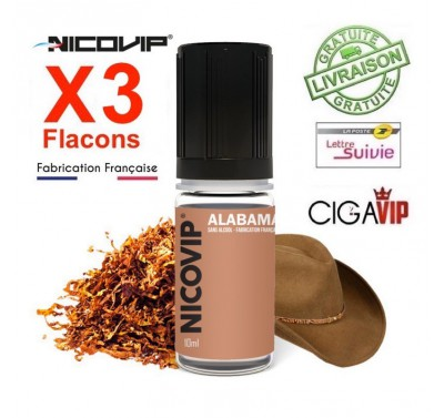e liquide - LOT de 3 - TABAC ALABAMA