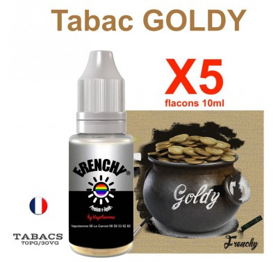 e liquide Frenchy - LOT de 5 - TABAC GOLDY
