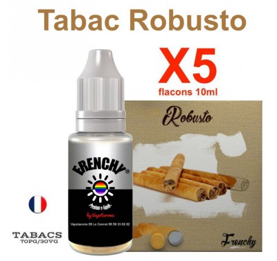 e liquide Frenchy - LOT de 5 - TABAC ROBUSTO