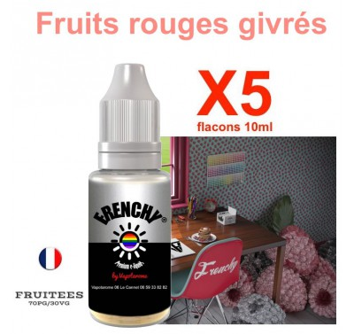 e liquide Frenchy - LOT de 5 - Fruits Rouges givrés