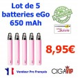 Lot de 5 Batteries Ego 650 - Couleur