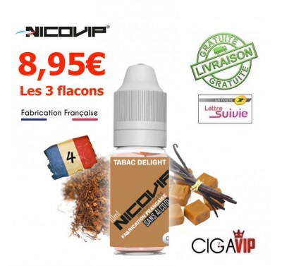 e liquide - LOT de 3 - TABAC BLOND DELIGHT
