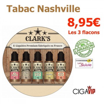 e liquide - LOT de 3 - TABAC BLOND NASHVILLE