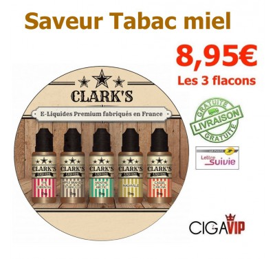 e liquide - LOT de 3 - HONEY TABACCO