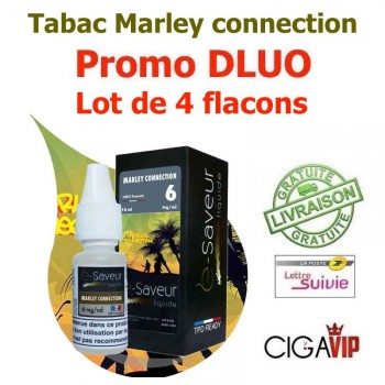 e liquide - LOT de 4 - Marley Connection - DLUO DEPASSEE